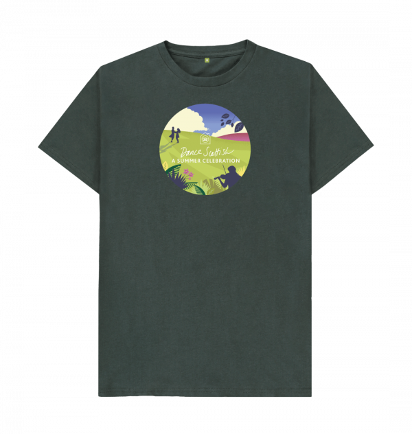 Mens unisex Summer Celebration t-shirt, limited edition from the RSCDS