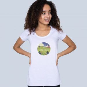 Summer Celebration scoop neck t-shirt, limited edition from the RSCDS