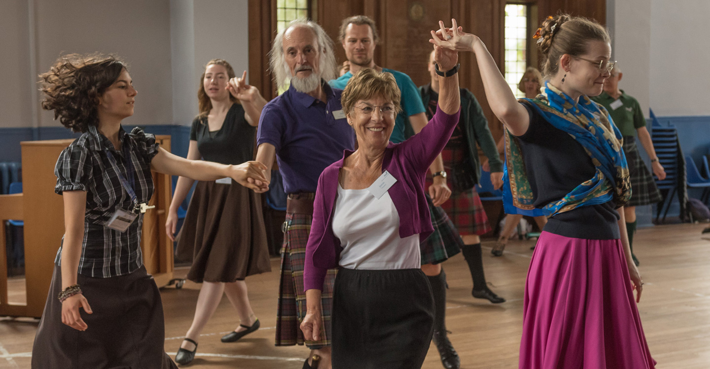 Image of dancers at Summer School, St. Andrews