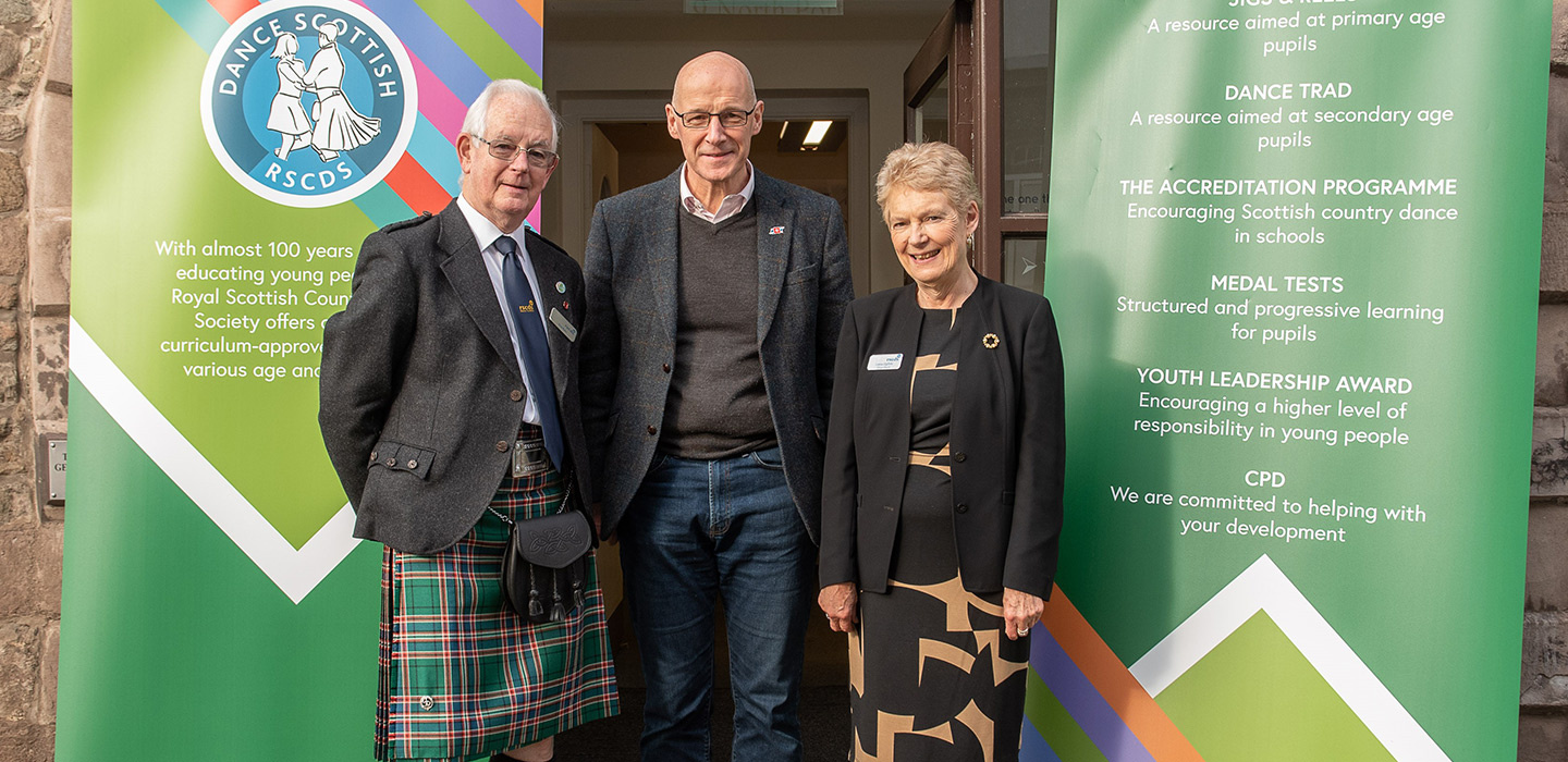 image of John Swinney with Roy Bain and Lorna Ogilvie