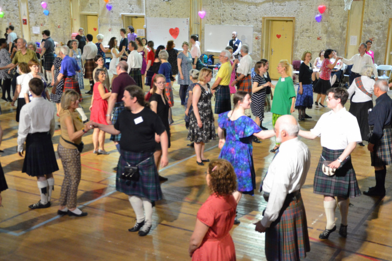 Image of Scottish country dancing at Welcome Dance, Spring Fling 2019